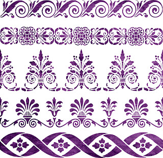 Free SVG | Home Decorative Stencil | Borders