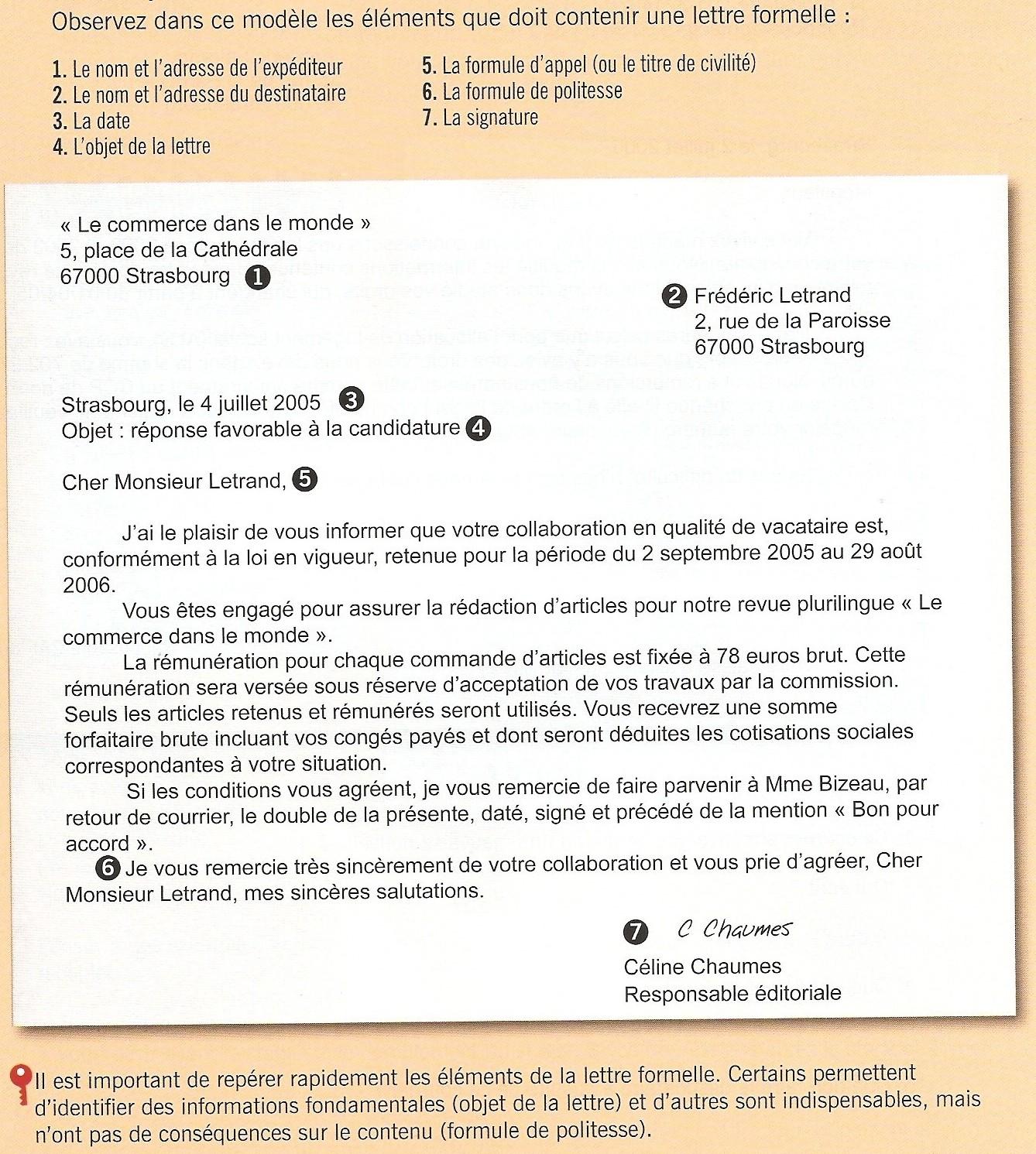 exemple de lettre pour s u0026 39 informer