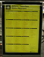 Check out the departure board to ID your train downtown