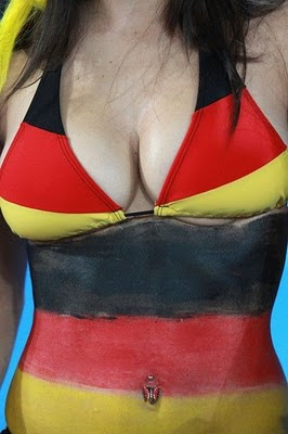German Fans Come To South Africa With Body Paint Art