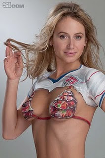 Bethany Dempsey With The USA Football Team Costume