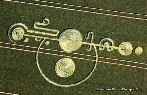 Lingkaran Ladang Yang Berbentuk Asimetris - Jejak Pendaratan UFO