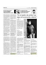 Entrevista para El Periódico Extremadura. 08/01/2010 L. Barrera