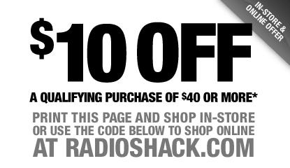 Radio shack discount coupons