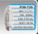 CANDELUX 1W-36LED