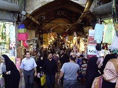 Le marché de Téhéran