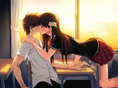 anime love kiss. anime love kiss. wallpaper