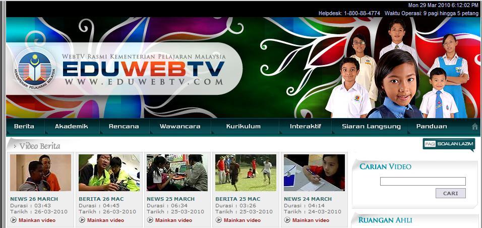 Ini adalah kali kedua admin memperkatakan tentang EDU WEBTV yang mana
