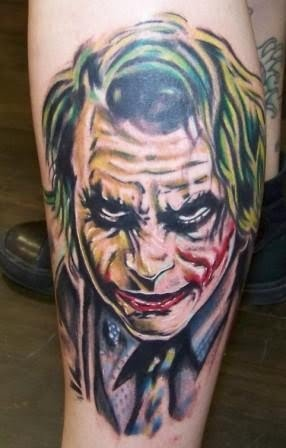 Joker Tattoo Is Tattoo From Batman's Movie, It Is One Character That
