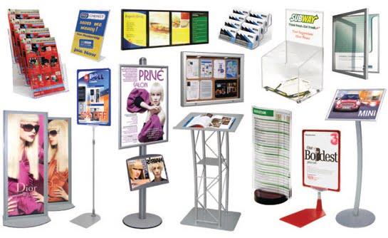 flyer display stands