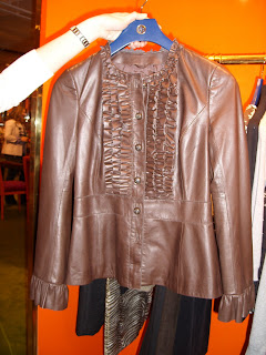 tory burch ruffled leather jacket