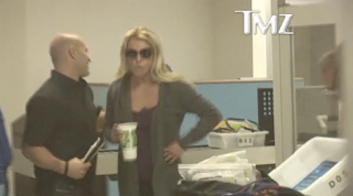 Britney big gulp at airport