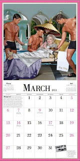 Betty white calendar March