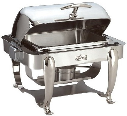 All Clad Chafing Dish With Roll Top Covering lid