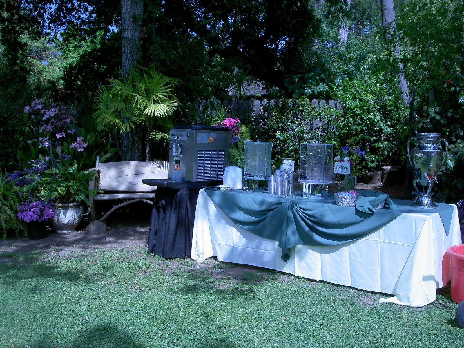 cozy backyard altadena wedding ritz catering southern