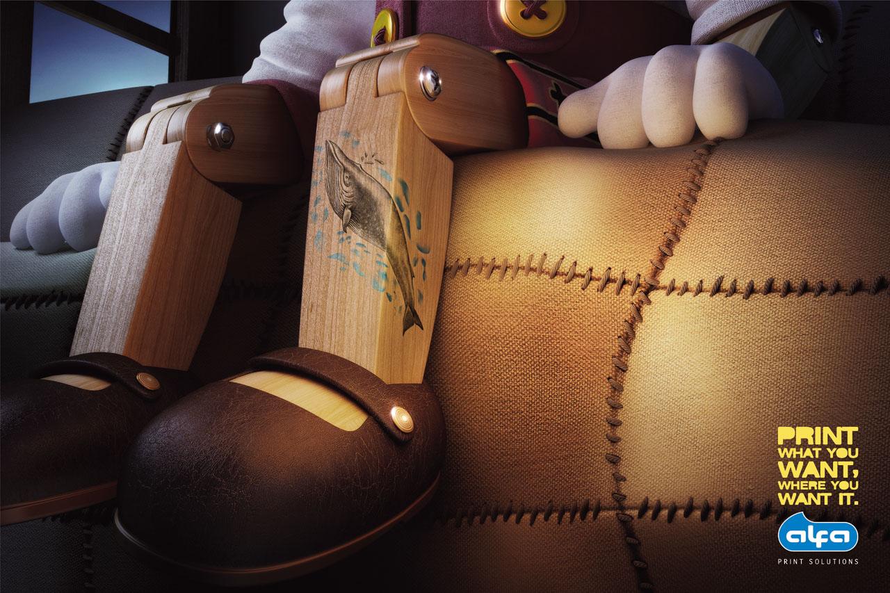 Pinocchio tattoo on man