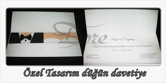 Ozel Tasarim Dugun Davetiyesi