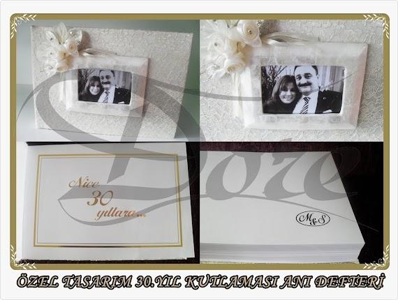 Mine&Sinan Aygün çiftine özel hazırlanan süpriz hediye 30. yıl anı defteri