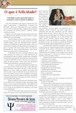 Revista Look - Matéria O que é Felicidade