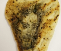 jesus face on naan bread