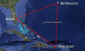 trianguloBermudas El triángulo de las Bermudas, un misterio inventado
