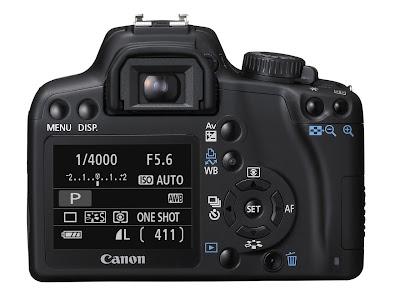 Canon EOS 1000D rear, Alnect Komputer, belakang