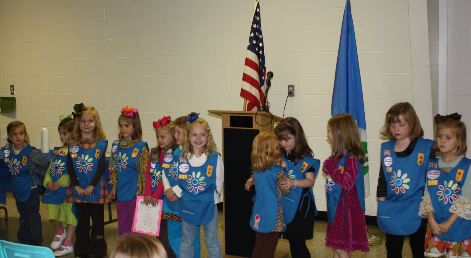 Daisy Scout Investiture   Lovell Family Updates