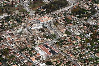 vue aerienne ville de Pessac