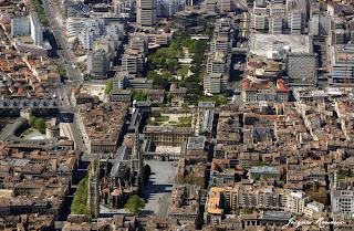 Vue aérienne Bordeaux centre