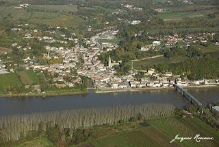 vue aerienne commune de Langoiran
