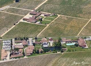 vue aérienne chateau Smith Haut Lafitte