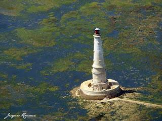 Photo aérienne du Phare de Cordouan entre Gironde et Charente Maritime