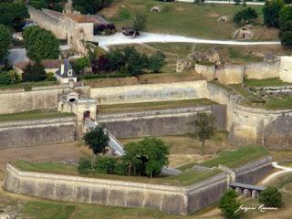 Photo aérienne de la Citadelle de Blaye par Vauban