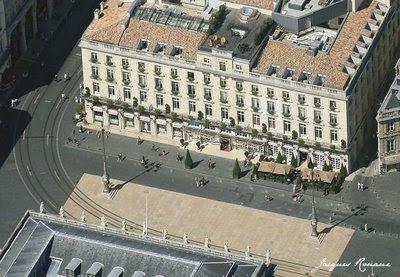 vue aerienne hôtel régent à Bordeaux