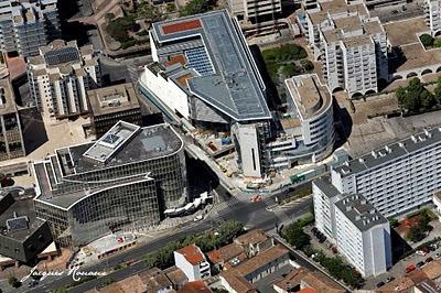 vue aérienne du nouveau batiment du Conseil Général de la Gironde