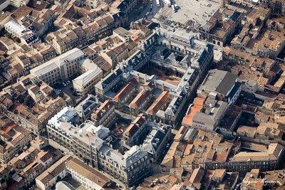 Photo aérienne des Bâtiments de la Faculté de Médecine Place de la Victoire à Bordeaux.