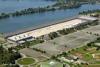 Vue aérienne de la Foire de Bordeaux Lac
