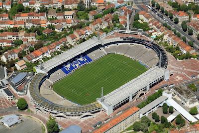 Vue aérienne du stade Chaban Delmas (Lescure) des Girondins de Bordeaux