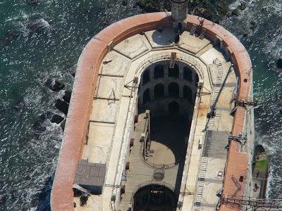 Vue aérienne du Fort Boyard en Charente Maritime