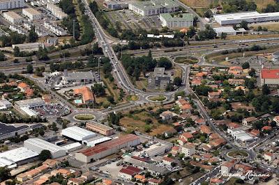 Photo aérienne du quartier Pichey à Mérignac en Gironde