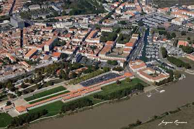 Vue aérienne de la Corderie Royale à Rochefort sur Mer