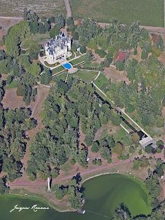 vue aérienne du château Pichon
