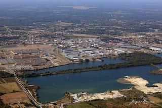vue aérienne du nouveau quartier de la Rivière à Blanquefort