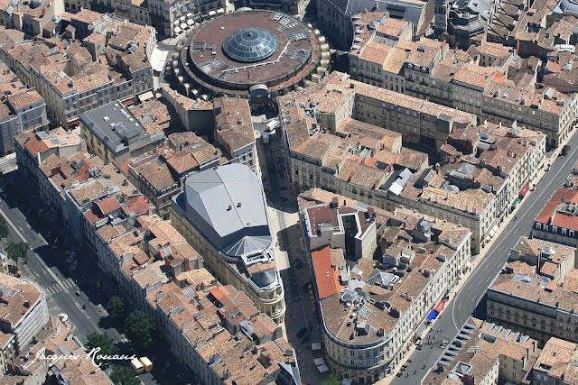 vue aérienne cinéma CGR Le Français à Bordeaux