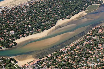 Vue aérienne du lac d'Hossegor