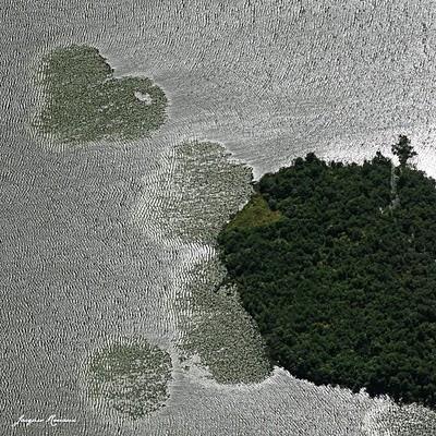 Photo aérienne du lac de Soustons
