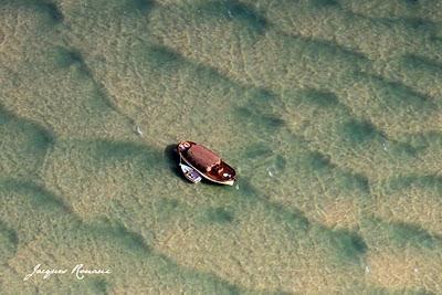Photo aérienne Pinasse sur du Bassin d'Arcachon