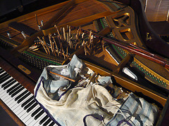 'Silencers - Prepared piano' by svennevenn on Flickr