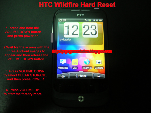 htc wildfire hard reset