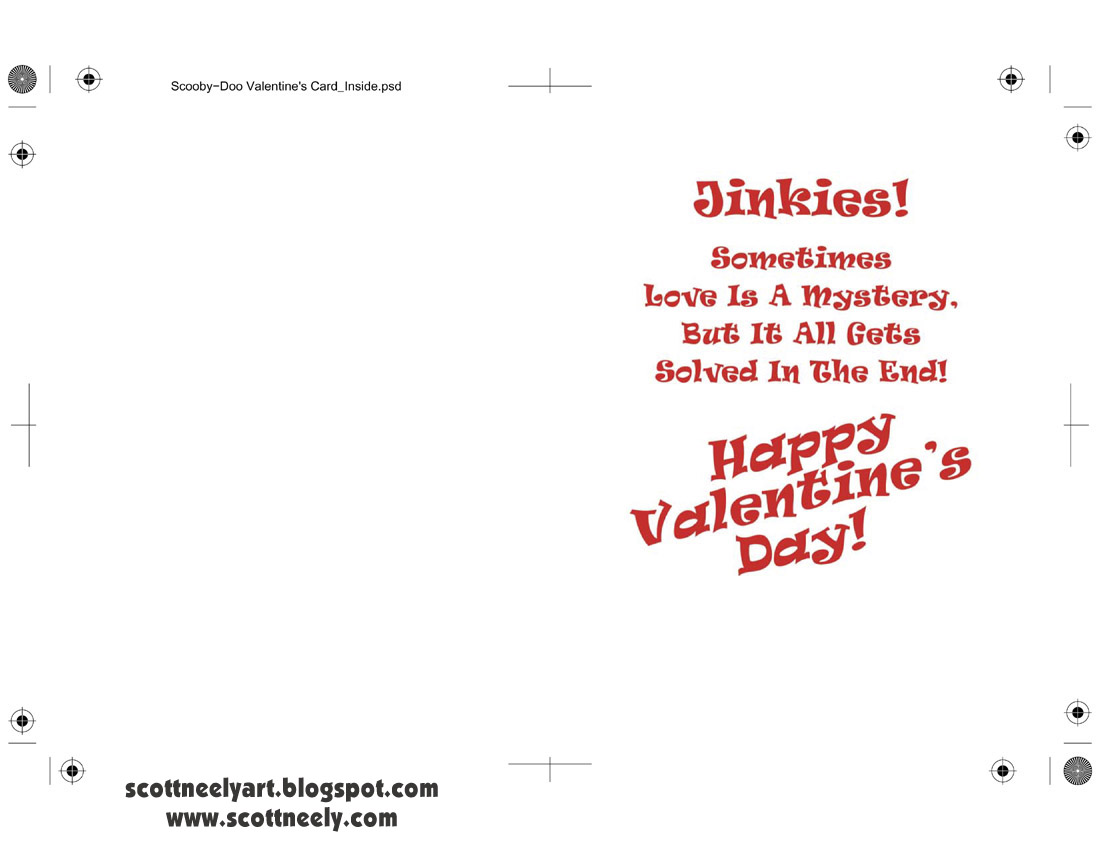 Scott Neelys Scribbles and Sketches Print Out Your Own SCOOBY – Valentines Card Print out